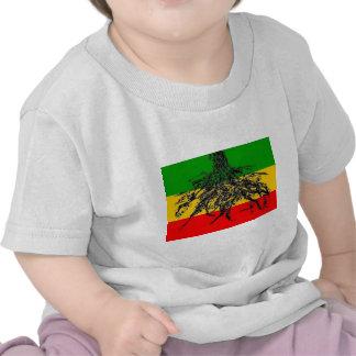 Bandeira das raizes camisetas