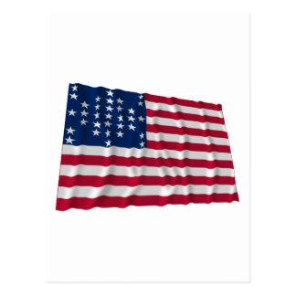bandeira de 33 estrelas, teste padrão da cartão postal