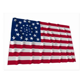 bandeira de 34 estrelas, teste padrão da grinalda, cartão postal