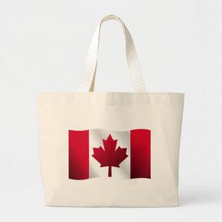 bandeira de 3D Canadá Bolsa De Lona