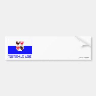 Bandeira de Adige do Trentino-Alto com nome Adesivo Para Carro