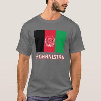 Bandeira de Afeganistão com nome Camiseta