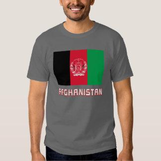Bandeira de Afeganistão com nome Tshirts