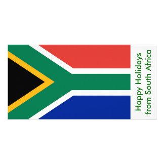Bandeira de Afric sul, boas festas de África Cartão Com Foto