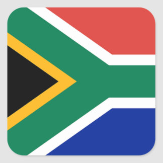 Bandeira de África do Sul Adesivo Quadrado