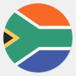 Bandeira de África do Sul Adesivos Redondos