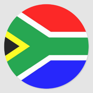 Bandeira de África do Sul Adesivo Em Formato Redondo