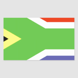 Bandeira de África do Sul Adesivo Retangular