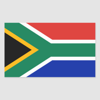 Bandeira de África do Sul Adesivo Retângular