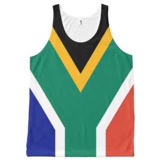 Bandeira de África do Sul Bokke Regata Com Estampa Completa