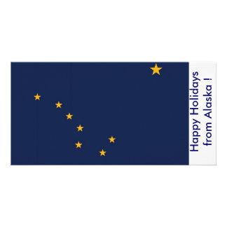 Bandeira de Alaska, boas festas dos EUA Cartão Com Foto