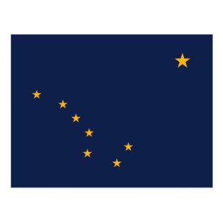 Bandeira de Alaska Cartão Postal