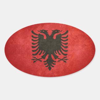 Bandeira de Albânia Adesivo Oval