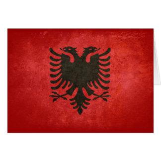 Bandeira de Albânia Cartão De Nota