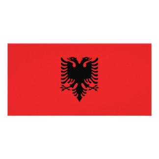 Bandeira de Albânia Cartão Com Foto
