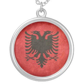 Bandeira de Albânia Colar Com Pendente Redondo