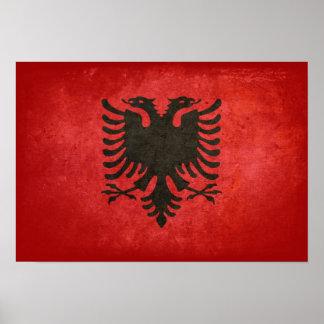 Bandeira de Albânia Poster