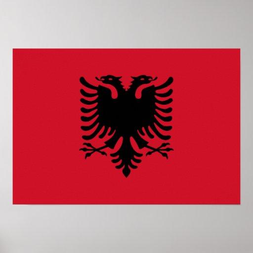 Bandeira de Albânia Posters