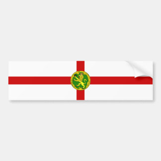 Bandeira de Alderney. Grâ Bretanha, coroa britânic Adesivo Para Carro