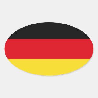 Bandeira de Alemanha Adesivo Oval