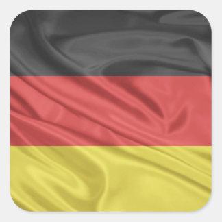 Bandeira de Alemanha Adesivo Quadrado