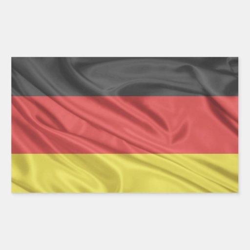 Bandeira de Alemanha Adesivos Em Forma Retangular