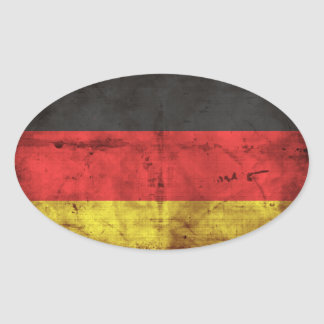 Bandeira de Alemanha Adesivos Em Formato Ovais