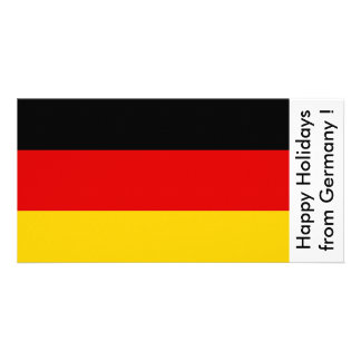 Bandeira de Alemanha, boas festas de Alemanha Cartão Com Foto