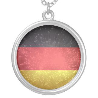 Bandeira de Alemanha Colar Com Pendente Redondo