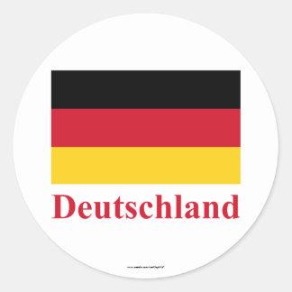 Bandeira de Alemanha com nome no alemão Adesivo