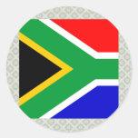 Bandeira de alta qualidade de África do Sul Adesivos Em Formato Redondos