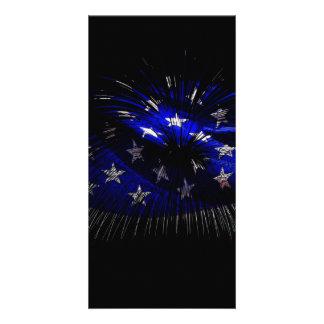 Bandeira de América E.U. Cartão Com Foto