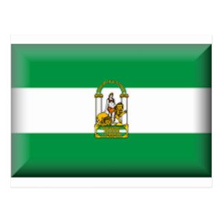Bandeira de Andalucia - espanha Cartão Postal