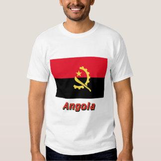 Bandeira de Angola com nome T-shirt
