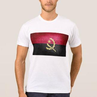 Bandeira de Angola do Grunge Camiseta