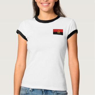 Bandeira de Angola + T-shirt do mapa Camiseta
