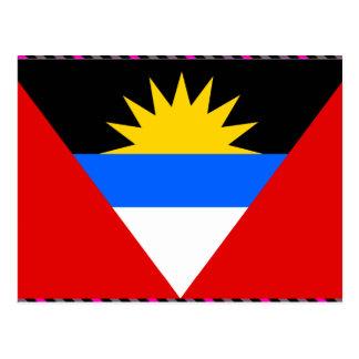 Bandeira de Antígua Cartão Postal