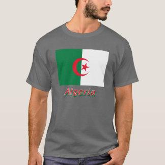 Bandeira de Argélia com nome Camiseta