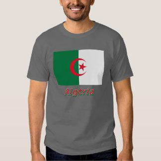 Bandeira de Argélia com nome Tshirts