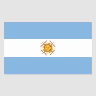 Bandeira de Argentina/Argentina Adesivo Retangular