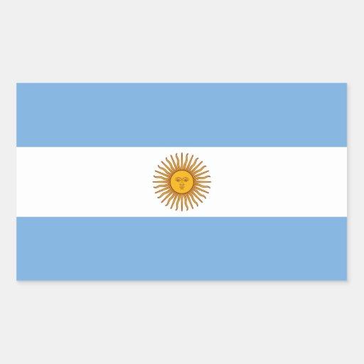 Bandeira de Argentina/Argentina Adesivos Retangulares