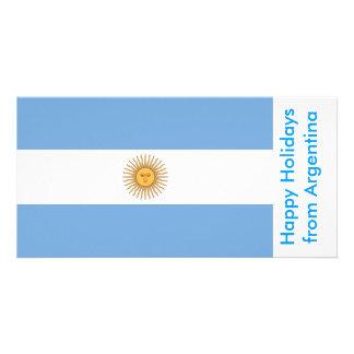 Bandeira de Argentina boas festas de Argentina Cartoes Com Fotos