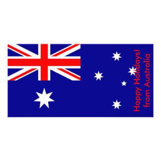 Bandeira de Argentina boas festas de Austrália Cartoes Com Foto