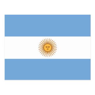 Bandeira de Argentina Cartão Postal