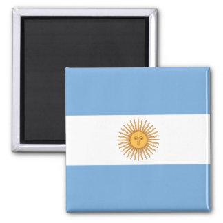Bandeira de Argentina Ímã Quadrado