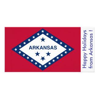 Bandeira de Arkansas, boas festas dos EUA Cartão Com Foto
