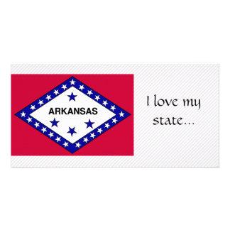 Bandeira de Arkansas Cartao Com Fotos Personalizado
