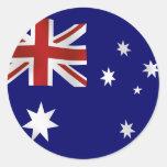 Bandeira de Austrália Adesivos Redondos