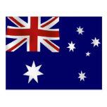 Bandeira de Austrália Cartão Postal