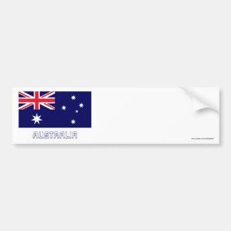 Bandeira de Austrália com nome Adesivo Para Carro